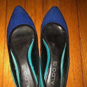 Blue Aldo shoes size 7